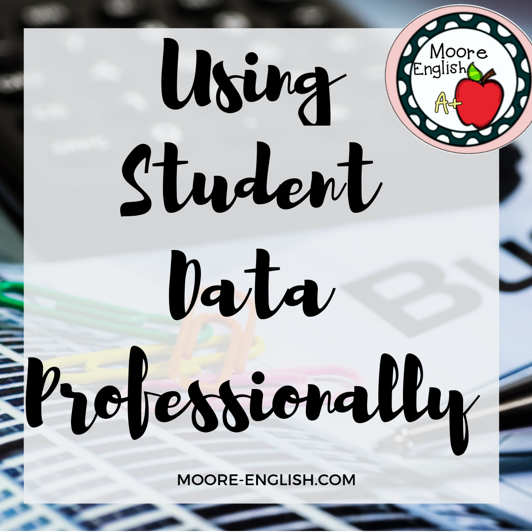 Using Student Data Professionally: Readily, Responsively, and Responsibly #moore-english moore-english.com