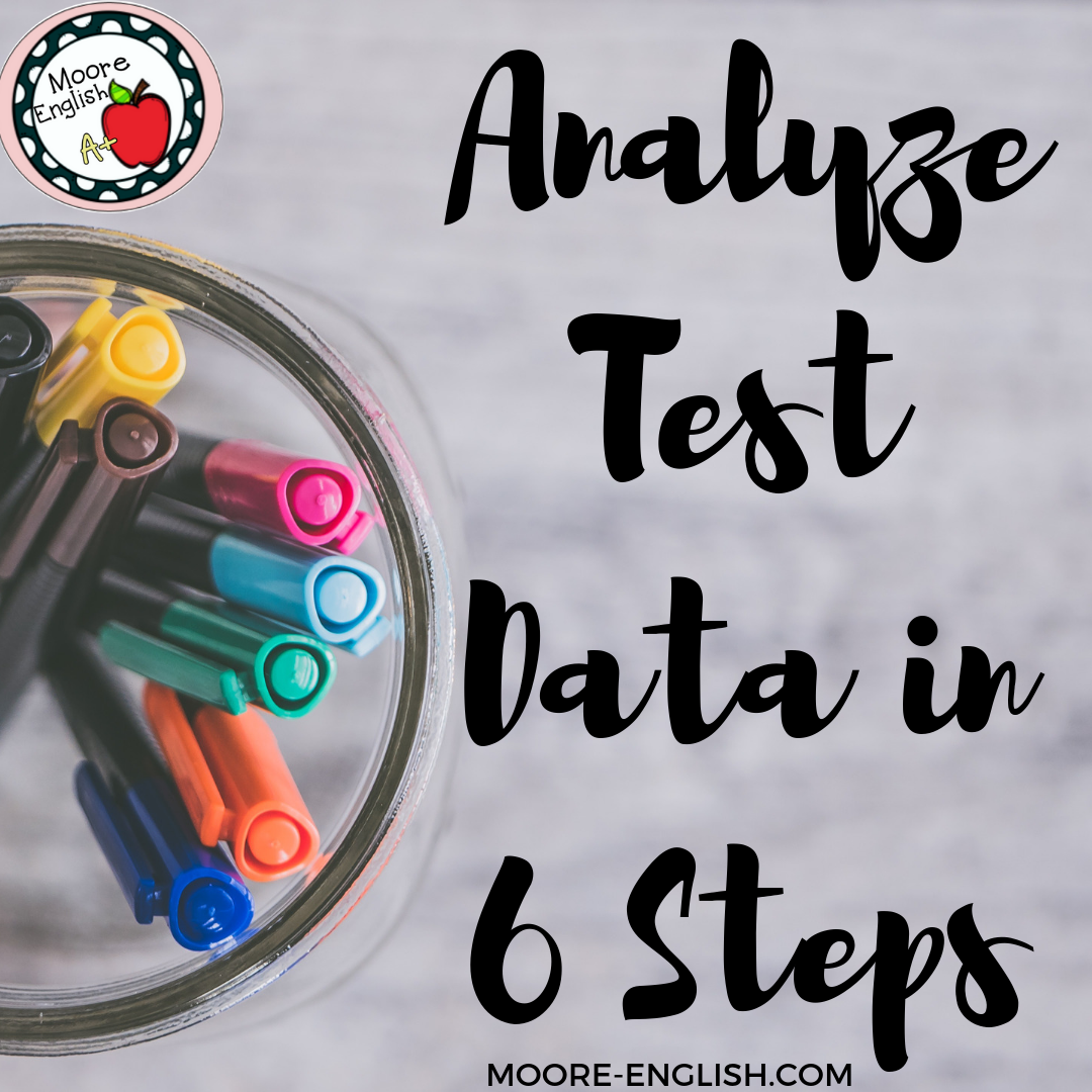 Analyze Test Data in 6 Steps @moore-english.com #moore-english