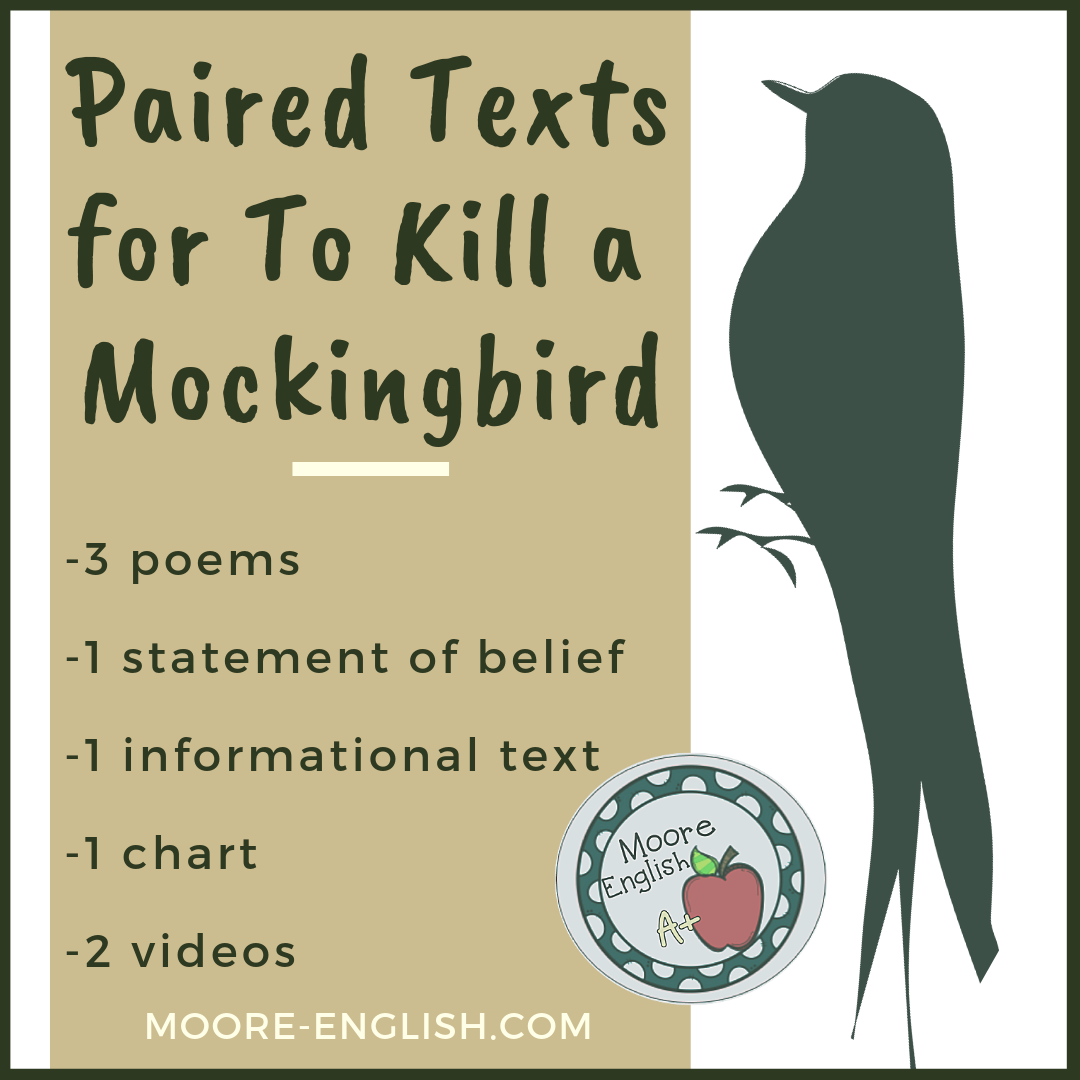 Paired Texts for To Kill a Mockingbird #moore-english moore-english.com
