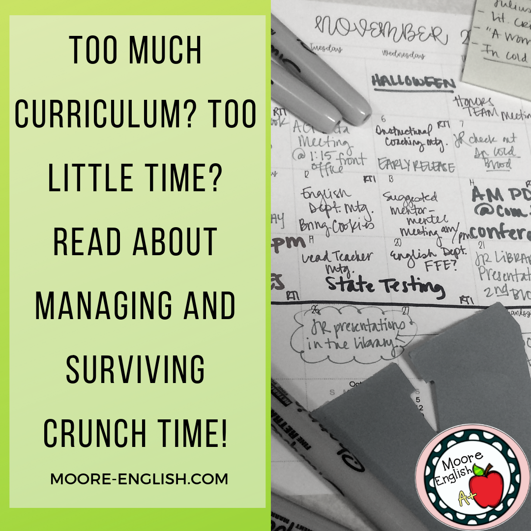 Managing Classroom Crunch @moore-english.com #moore-english